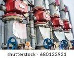 industrial fire alarm valve... | Shutterstock . vector #680122921
