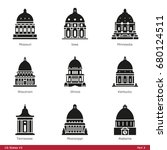 us state capitols  part 3   ... | Shutterstock .eps vector #680124511