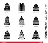us state capitols  part 2   ... | Shutterstock .eps vector #680124679