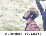 man relaxation at the park.... | Shutterstock . vector #680126959
