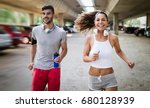 attractive man and beautiful... | Shutterstock . vector #680128939
