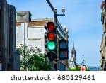 old montreal and old port green ...   Shutterstock . vector #680129461
