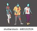 zombie halloween.   hand drawn. ...   Shutterstock .eps vector #680132524