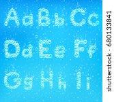 font of soap bubbles vector... | Shutterstock .eps vector #680133841