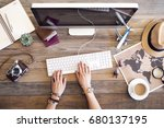 travel planning concept on table | Shutterstock . vector #680137195