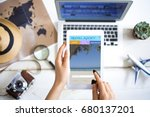 travel planning concept on table | Shutterstock . vector #680137201