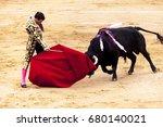 spanish bullfight  bullfight.... | Shutterstock . vector #680140021