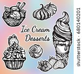 hand drawn beautifully ice... | Shutterstock .eps vector #680140201
