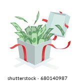 money coming out of the gift box | Shutterstock .eps vector #680140987