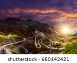 majestic mountain scenery.... | Shutterstock . vector #680142421