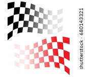 racing flag vector. | Shutterstock .eps vector #680143321