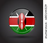 3d rendering of kenya button... | Shutterstock .eps vector #680144329
