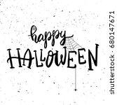 happy halloween. hand drawn...   Shutterstock .eps vector #680147671