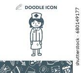nurse doodle | Shutterstock .eps vector #680149177
