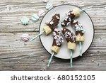 chocobanana light summer... | Shutterstock . vector #680152105