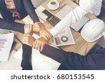 success partnership concept. ... | Shutterstock . vector #680153545