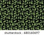 greenery leaf seamless pattern... | Shutterstock . vector #680160697