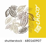 hand drawn doodle cocoa and... | Shutterstock .eps vector #680160907
