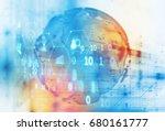 digital globe  technology... | Shutterstock . vector #680161777