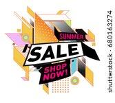 summer sale geometric style web ...   Shutterstock .eps vector #680163274
