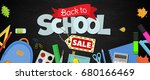 blackboard with greeting  first ... | Shutterstock .eps vector #680166469