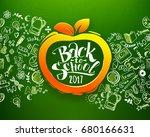 back to school horizontal... | Shutterstock .eps vector #680166631