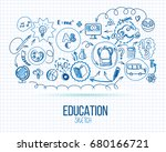school infographic. vector... | Shutterstock .eps vector #680166721