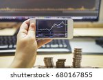 stock market graph and office... | Shutterstock . vector #680167855