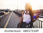 portrait of beautiful smiling... | Shutterstock . vector #680173189