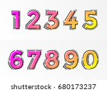 modern alphabet set with... | Shutterstock .eps vector #680173237