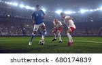 soccer player makes a dramatic... | Shutterstock . vector #680174839