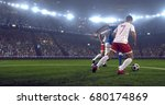 soccer player makes a dramatic... | Shutterstock . vector #680174869