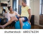 smiling female therapist... | Shutterstock . vector #680176234