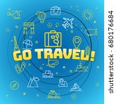 go travel concept. different... | Shutterstock .eps vector #680176684