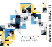 modern square geometric pattern ... | Shutterstock . vector #680182495