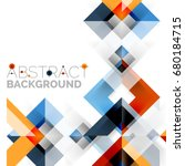modern square geometric pattern ... | Shutterstock . vector #680184715