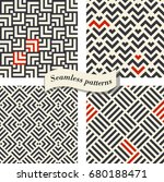 set of abstract geometric... | Shutterstock .eps vector #680188471