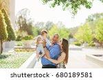 family on a walk | Shutterstock . vector #680189581