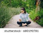 girl in forest | Shutterstock . vector #680190781