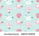 hand drawn vector abstract... | Shutterstock .eps vector #680192809