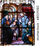 Stain Glass Window At The...