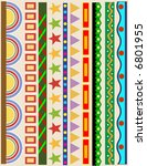 various color border lines set | Shutterstock .eps vector #6801955