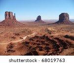 Mesas in Monument Valley, Arizona - stock photo