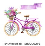 watercolor illustration ... | Shutterstock . vector #680200291