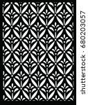 kawung indonesian batik  black... | Shutterstock .eps vector #680203057