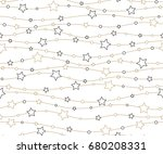 holiday background  seamless... | Shutterstock . vector #680208331