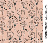 seamless pattern with... | Shutterstock .eps vector #680208391