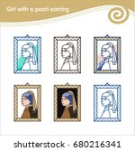 girl with a pearl earring.... | Shutterstock .eps vector #680216341