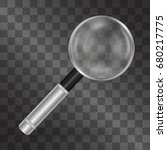 realistic magnifying glass... | Shutterstock .eps vector #680217775