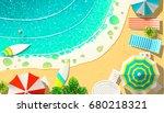 vector illustration of shore... | Shutterstock .eps vector #680218321